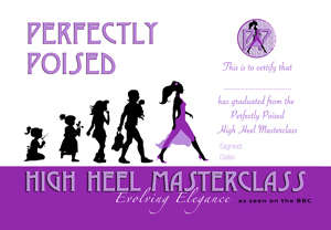 certificate of graduation from high heel masterclass
